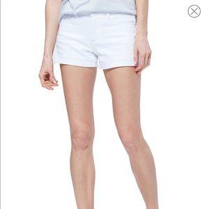 Paige White Denim Nordstrom Cuffed Shorts NEW